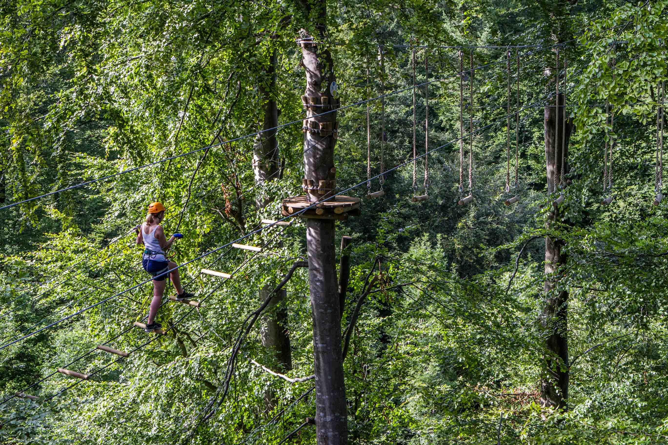 Camp Adventure Park. Дания. Веревочный парк.